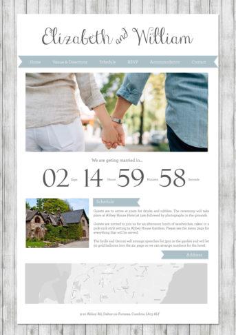 Shabby Chic Wedding Website