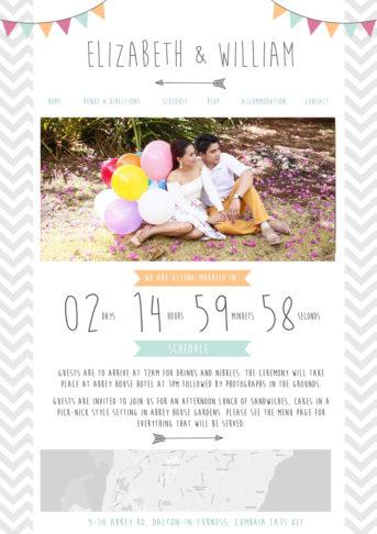 Quirky Wedding Website