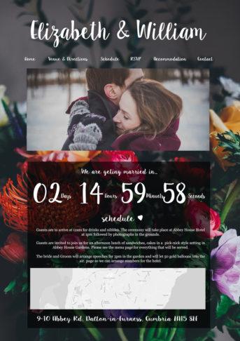 Floral Wedding Website
