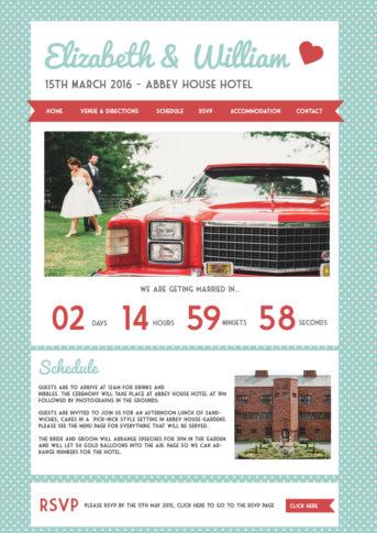 Retro Wedding Website
